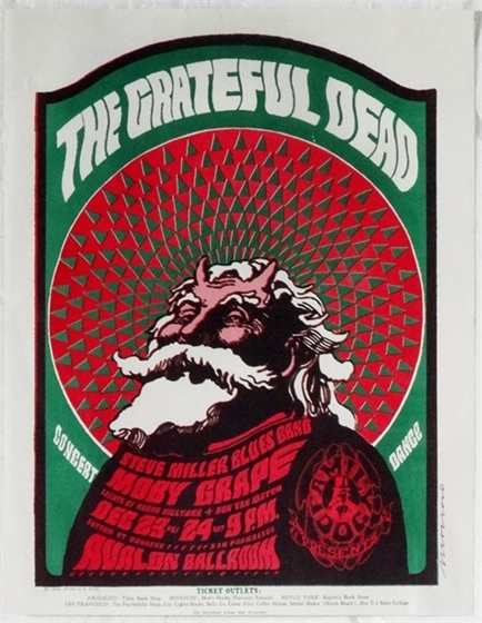 FD 40 Grateful Dead Moby Grape Victor Moscoso Avalon Ballroom 1966 Flyer