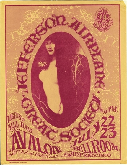 FD 17 Jefferson Airplane Great Society 1966 Mouse/Kelley Avalon Ballroom Flyer