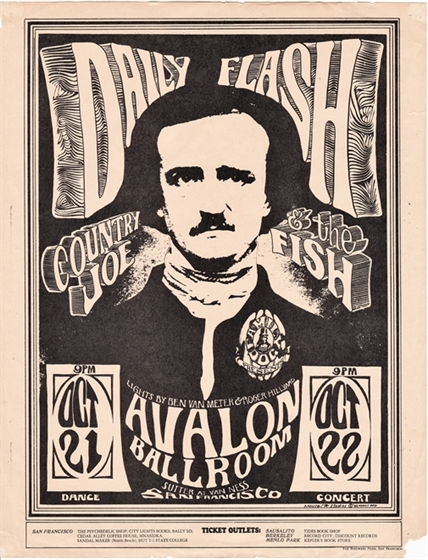 FD 31 Daily Flash Country Joe & the Fish 1966 Mouse/Kelley Avalon Concert Flyer